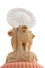 three lion statue