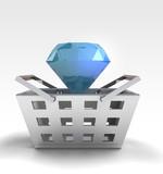 luxurious diamond as trade merchandise poster