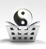 yin yang harmony as trade merchandise poster