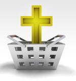 holy golden cross as trade merchandise poster