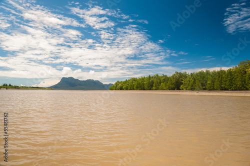 Muddy Sea - On the way to Bako National Park - Borneo , Sarawak