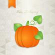 Thanksgiving greeting card design. Vector illustration