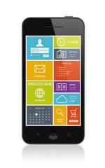 Smartphone with modern metro UI