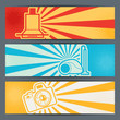 Home appliances and electronics horizontal banners.