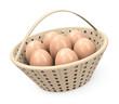 Korb voller Eier