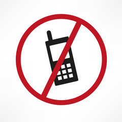 Vector no cellphone sign