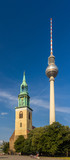 St. Mary's Church and TV tower in Berlin - Germany