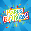 """HAPPY BIRTHDAY"" Card (party celebration fun congratulations)"