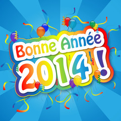"""Carte de Voeux """"BONNE ANNEE 2014"""" (bonne année joyeuses fêtes)"""