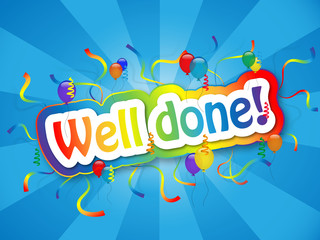 """""""WELL DONE!"""" Card (congratulations party achievement message)"""