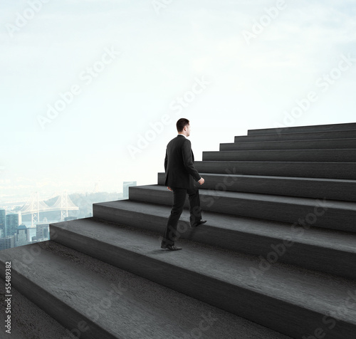 man walking near ladder