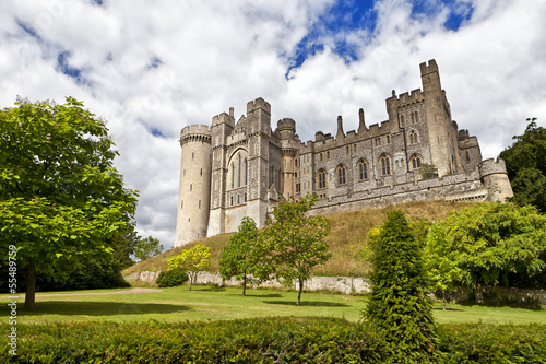 Arundel Castle, restored medieval castle in West Sussex