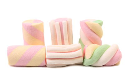 Colorful marshmallows.