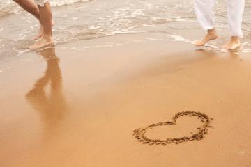 Summer beach walk