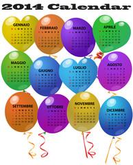 2014 balloon calendar