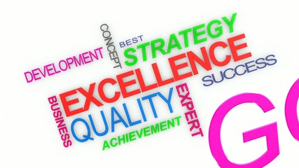 Word cloud about excellence in business service