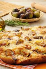 focaccia fichi e gorgonzola