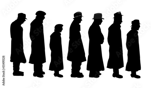 men in silhouette concept