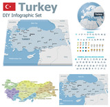 Turkey maps with markers