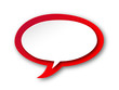 Speech Bubble Icon (buttons symbols tags blank template red)