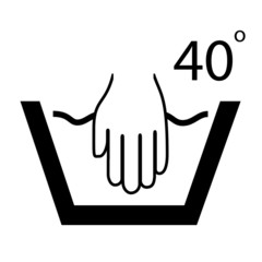 Vector hand wash symbol