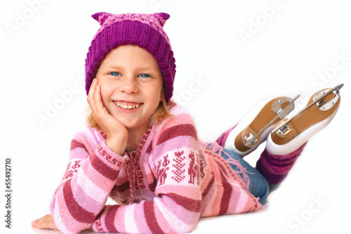 little girl in skates