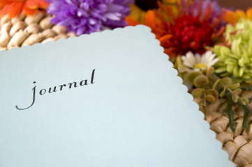 journal with flowers