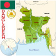 Bangladesh Asia national emblem map symbol location