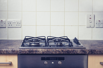 Clean and tidy kitchen stove