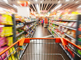 supermarket cart.