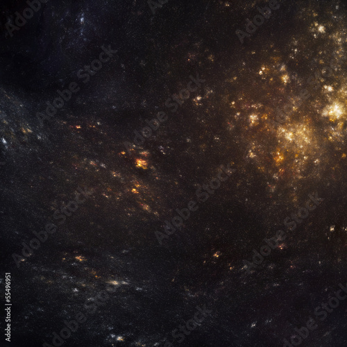 night sky with colorful stars