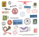 Postage stamps and labels from Switzerland