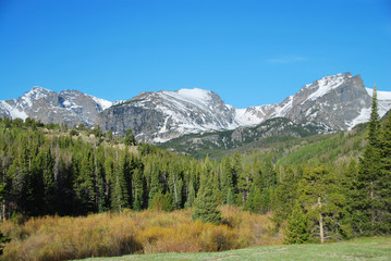 Otis and Hallett Peak, Rocky Mountain National Park, CO, USA