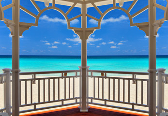 view from an arbor to the Atlantic Ocean, Varadero, Cuba