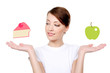 Woman with healthy eating concept