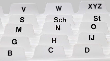 Alphabetisches Register, Kartei, Adresskarten