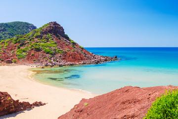 Cala del Pilar beach scenery, Menorca, Spain