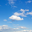white clouds in blue sky in summer day