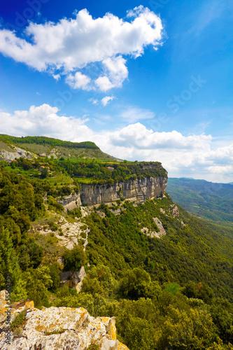 Calcareous cliffs in Tavertet