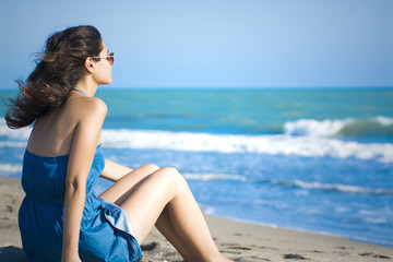 Beautiful girl on the Sands