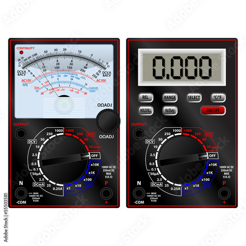 Analog and digital multimeter
