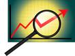 Statistik Trend Börse Pfeil Lupe Diagramm