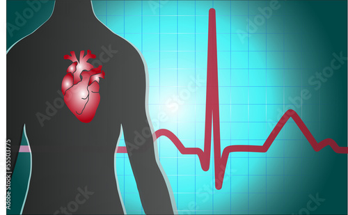Medical background heart