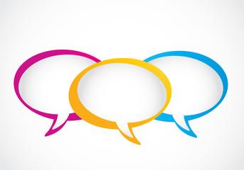 social media group speech bubbles
