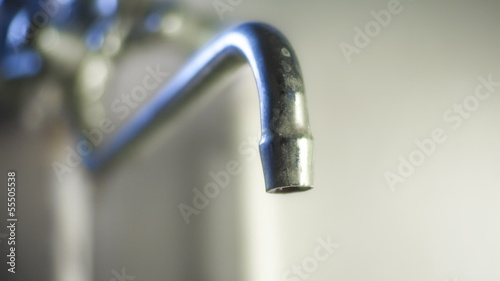 Drop of water from  tap