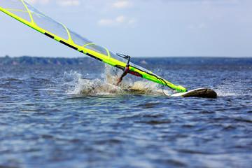 windsurfer falls