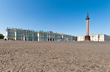 Palace Square and  Winter Palace, Saint Petersburg, Russia