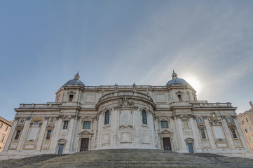 The Papal Basilica of Saint Mary Major in Rome, Italy.