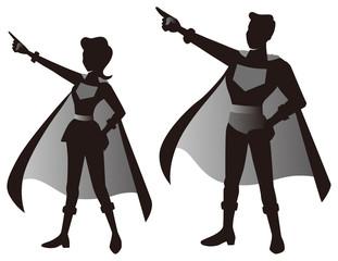 スーパーヒーローの夫婦