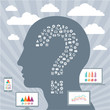 Infographic Concept with a Human Head & Displays